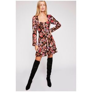 Free People Forever Printed Mini Dress